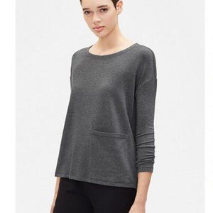 Eileen Fisher Tencel Stretch Terry Pocket Top